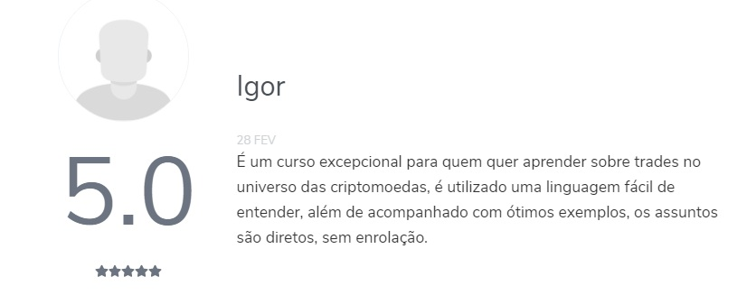 Curso Mestres Do Bitcoin 3.0 depoimentos
