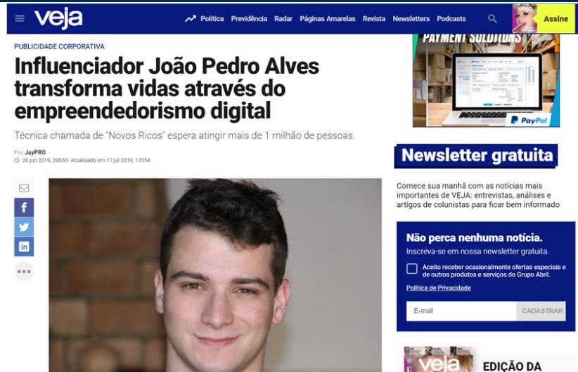 Robô Milionário João Pedro Matéria
