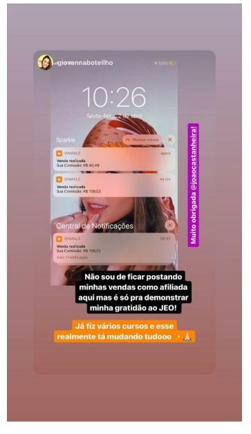 Jornada Enriquecendo Online depoimentos